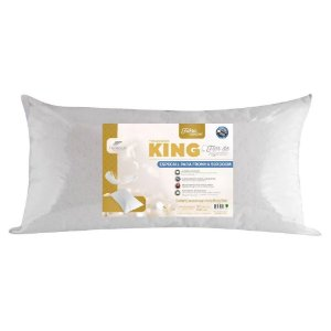 Travesseiro Flor de Algodão King Duplo Penteado 50x90cm