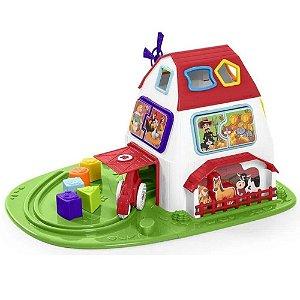 Brinquedo Infantil Fazendinha Colorido Tateti - Calesita