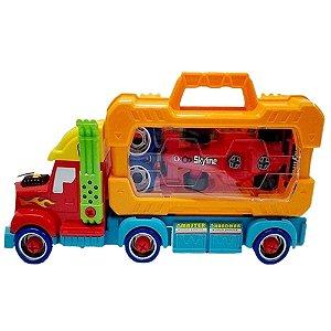 Caminhão Truck Tool Master com Carro e Maleta de Ferramentas