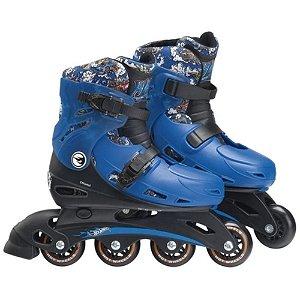 Patins Radical Fun Ajustável Hot Wheels Azul MATTEL
