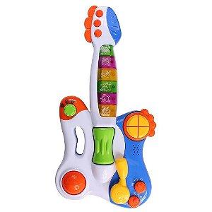 Minha Primeira Guitarra Musical Infantil - 42 Melodias