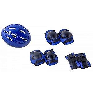 Kit de Proteção Radical Bel com Capacete tam. G Azul