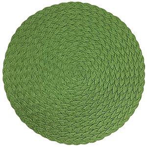 Kit com 8 Jogos Americanos Redondos Decoração Verde 38 cm