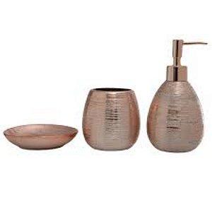 Conjunto para Banheiro Lunar 3 peças Bronze - Mimo Style
