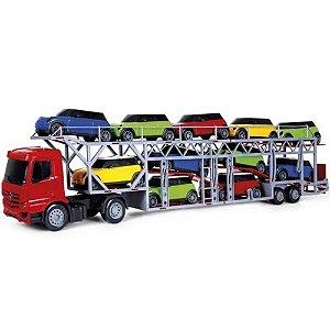 Caminhão Cegonheira  Super Frota com 11 Carros Coloridos