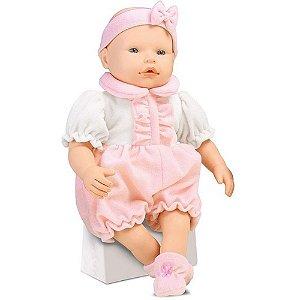 Boneca Cheirinho Baby com Naninha Infantil