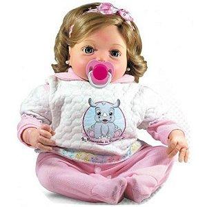 Boneca Bebê Reborn Yasmin com Acessórios Doll Realist
