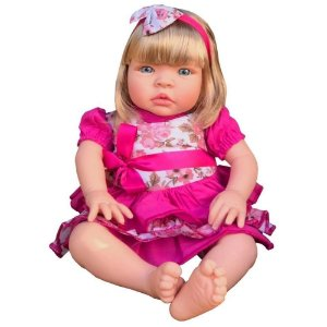 Boneca Baby Kiss Loira Chora e Balbucia - Sid Nyl