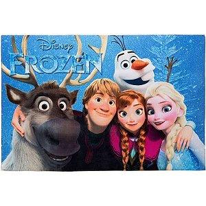 Tapete Infantil Frozen em Poliéster 70x100cm Jolitex