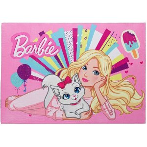 Tapete Infantil Barbie em Poliéster 70x100cm Jolitex