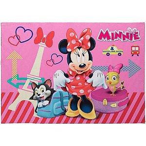 Tapete Infantil Minnie em Poliéster 70x100cm Jolitex