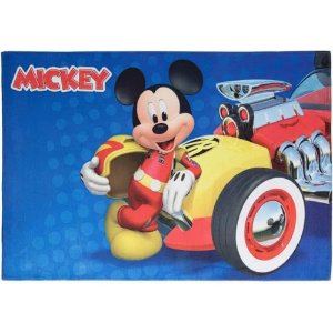 Tapete Infantil Mickey Piloto em Poliéster 70x100cm - Jolitex