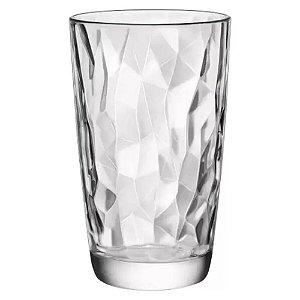 Jogo com 6 Copos Transparente Diamond Vidro 470ml - DAYHOME