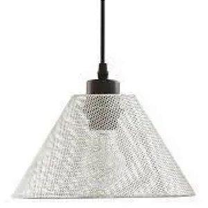 Pendente em Metal Cromado 15cm E27 Prata - MART