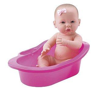 Boneca Banho de Carinho New Born com Banheira e Acessórios