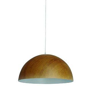 Pendente Decorativo Adely Amadeirado Ø30cm Ferro - DAYHOME