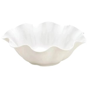Saladeira Flower em Melamina 2,4L Branco 28cm – Haus Concept