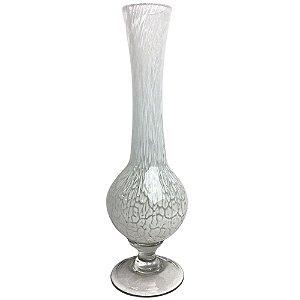 Vaso Decorativo Nazari em Vidro 39cm Branco CRISTAIS LABONE