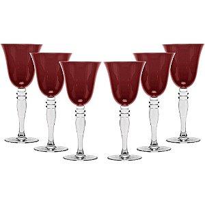 Jogo de Taças  6 peças para Vinho Versaille 230ml Vidro - GS