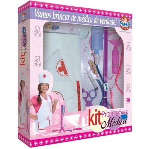 Kit de Profissões Médica Infantil com 10 Acessórios Sid-Nyl