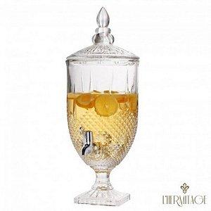 Suqueira de vidro 4,5L Transparente com pé