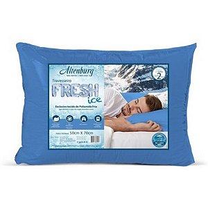 Travesseiro Fresh Ice Azul 50x70cm Altenburg Sensação Gelada