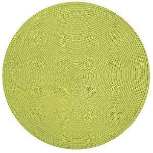 Jogo Americano Redondo Verde Limão - 38 Cm - Corttex - Circle - Redondo