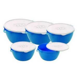 Kit bowl Azul com 5 peças MB