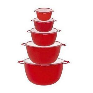 Kit bowl vermelho com 5 peças MB