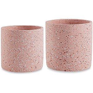 Cachepot Menor Rosê - Cimento - 12cm x 13cm