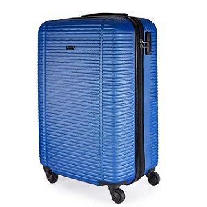 Mala de Viagem P ABS GoSuper Cadeado Embutido Azul Marinho