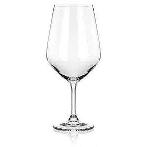 Jogo Com 6 Taças  De Cristal Bohemia Para  Vinho 810ml