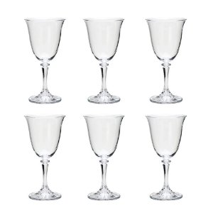 Jogo 6 taças 290ml para vinho tinto de vidro Kleopatra 5231