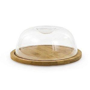 Porta queijo bambu com tampa Ecokitchen 8x19 cm Mimo Style