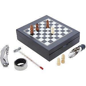 Jogo para Vinho com Jogo de Xadrez - MIMO STYLE