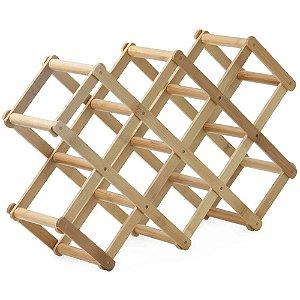 Suporte Para Vinhos 100% Bamboo Retrátil Eco – Mimo Style