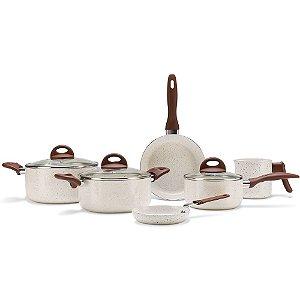 Jg de Panelas 6 Peças Ceramic Life Smart Plus Vanilla Brinox