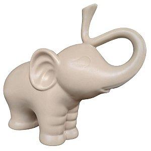 Elefante Tromba Decorativo 20 cm Bege – DAYHOME