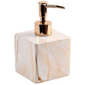 Porta Sabonete de Cerâmica Gabinetto Bege 400ml - Full Fit