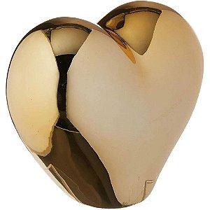 Coração Dourado em Cerâmica 16cm - Mart