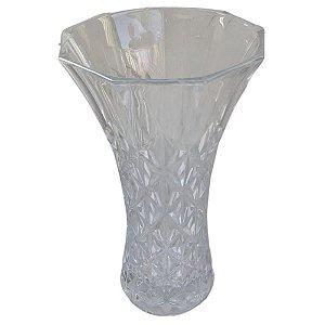 Vaso Decorativo Detalhado de Vidro 17x29cm - TECNOSERV