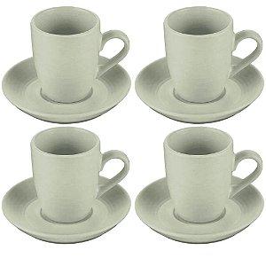 Jogo de Xícaras 4 Peças Porcelana c/Pires 90ml – Bon Gourmet