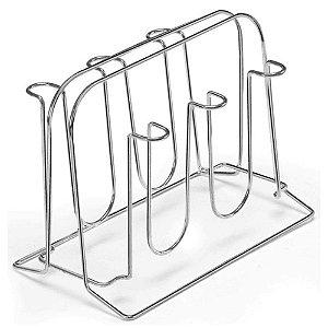 Suporte em Aço Cromado para 6 Copos 17 cm  – Arthi