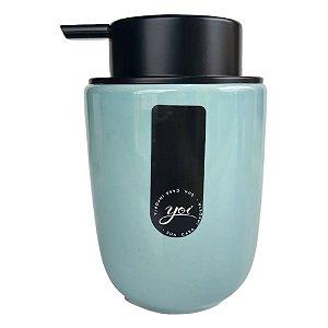 Porta Sabonete Líquido em Cerâmica Osaka Azul 200 ml – YOI