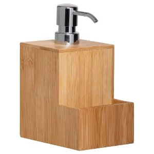 Porta Detergente e Esponja Natus em Bambu 230 ml -  YOI