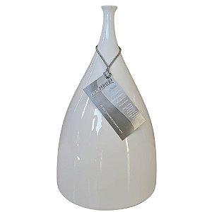 Vaso Decorativo Life Slin Cerâmica Branco 30 cm – ANA MARIA