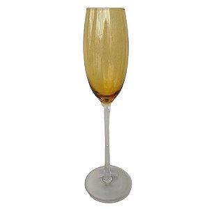 Jogo de 6 Taças p/Champagne em Vidro Âmbar 218ml - Rojemac