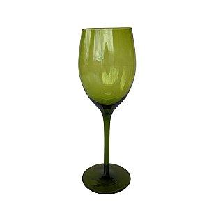 Jogo de 6 Taças p/Vinho Branco em Vidro Verde 350ml
