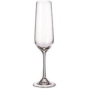 Jogo de 6 Taças em Vidro p/Champagne Strix 200ml - Full Fit
