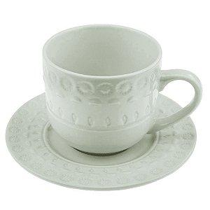 Jogo de 4 Xícaras p/Chá em Porcelana 250ml Branco - Wolff